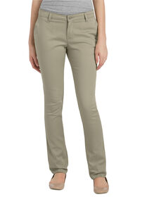 Juniors Schoolwear Classic Fit Straight Leg Stretch Twill Pant - DESERT SAND (DS)