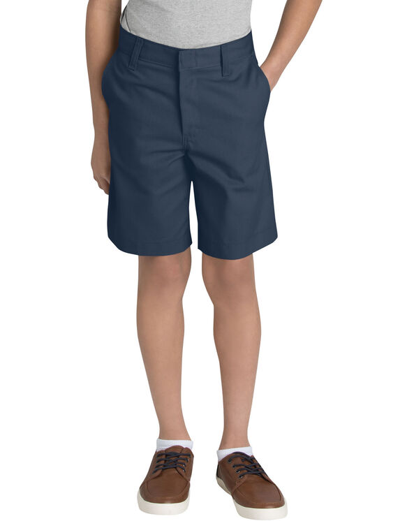 Adult Sized Flat Front Short, Waist 28-42 - DARK NAVY (DN)