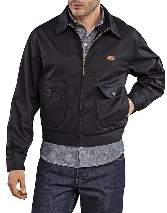 Dickies 1922 Truck Driver Jacket, Unlined - BLACK (BK)