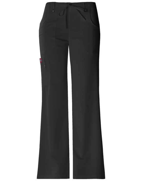 Women's Xtreme Stretch Drawstring Flare Scrub Pant - BLACK (BLK)