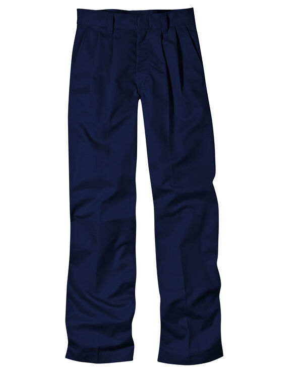 Adult Sized Classic Fit Straight Leg Pleated Front Pant - DARK NAVY (DN)