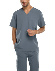 Men's Xtreme Stretch V-Neck Scrub Top - PEWTER-LICENSEE (PEW)