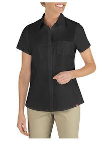 Women's Short Sleeve Stretch Shirt - BLACK (BK)