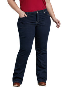Women's Relaxed Fit Boot Cut Leg Denim Jean (Plus) - DARK STONE WASH (DSW)