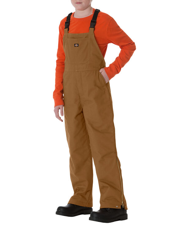 Kids' Sanded Duck Bib Overall, 8-20 - BROWN DUCK (BD)