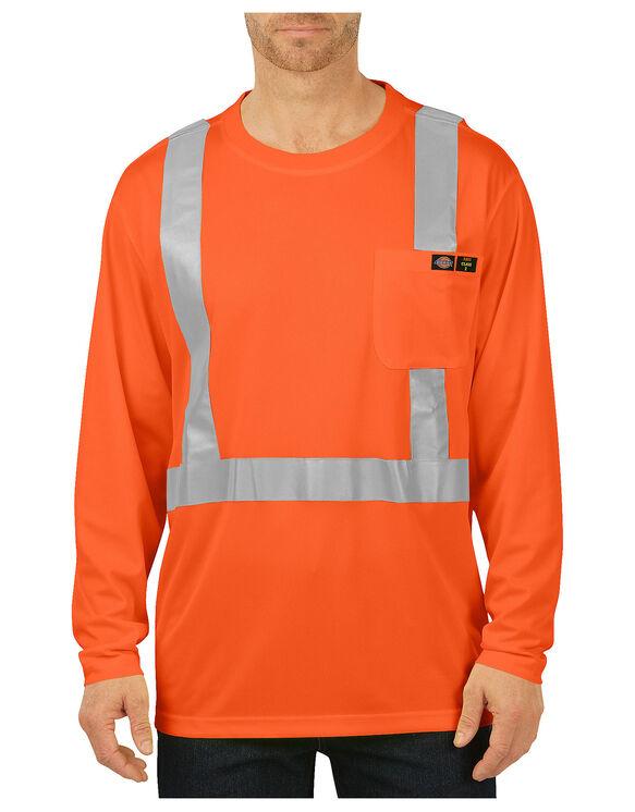 Hi vis long sleeve pocket tee class 2 mens high for Wholesale high visibility shirts