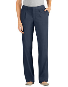 Women's Relaxed Fit Straight Leg Pleated Front Pant