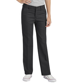 Girls' Flex Slim Fit Straight Leg Flat Front Pant, 7-20