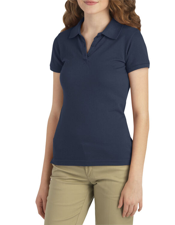 Juniors Schoolwear Stretch Pique Polo - DARK NAVY (DN)