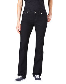 Women's Slim Straight Leg Denim Jean - RINSED BLACK (RBK)