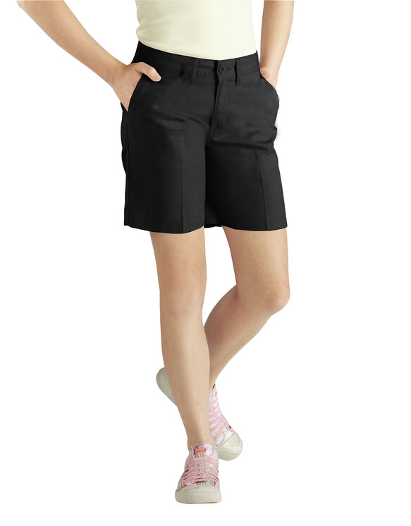 Girls' Classic Short (Half Sizes), 7-20 - BLACK (BK)