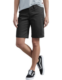 "Women's 10"" Relaxed Fit Stretch Twill Short - BLACK (BK)"
