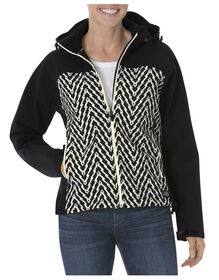 Women's DPS Patterned Softshell Jacket - ANTIQUE WHITE/BLACK TONAL (ABT)