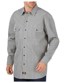 Long Sleeve Button-Front Logger Shirt - HICKORY STRIPE (HS)
