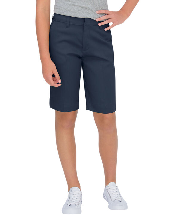 Girls' Classic Fit Bermuda Stretch Twill Short (Plus)