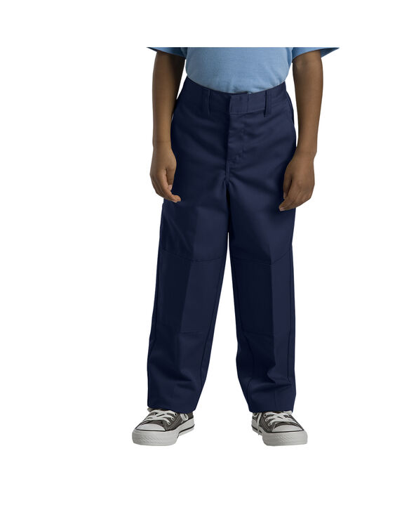 Boys' Relaxed Fit Straight Leg Double Knee Pant - DARK NAVY (DN)
