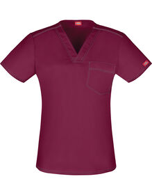 Unisex Gen Flex V-Neck Scrub Top - WINE (WIN)