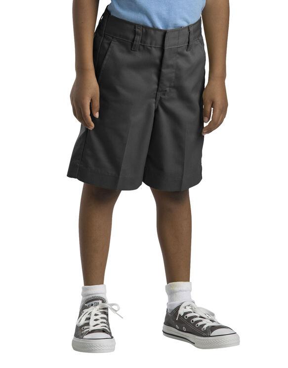 Boys' Flat Front Short, 4-7 - BLACK (BK)