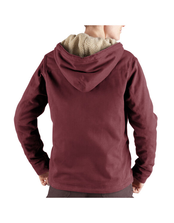 Women's Sanded Duck Hooded Jacket - OXBLOOD (OX)