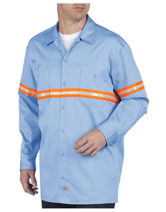 Enhanced Visibility Long Sleeve Twill Work Shirt - LIGHT BLUE (LB)