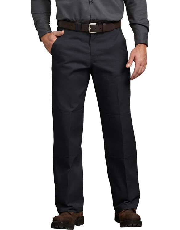Relaxed Straight Fit Double Knee Pant - BLACK (BK)