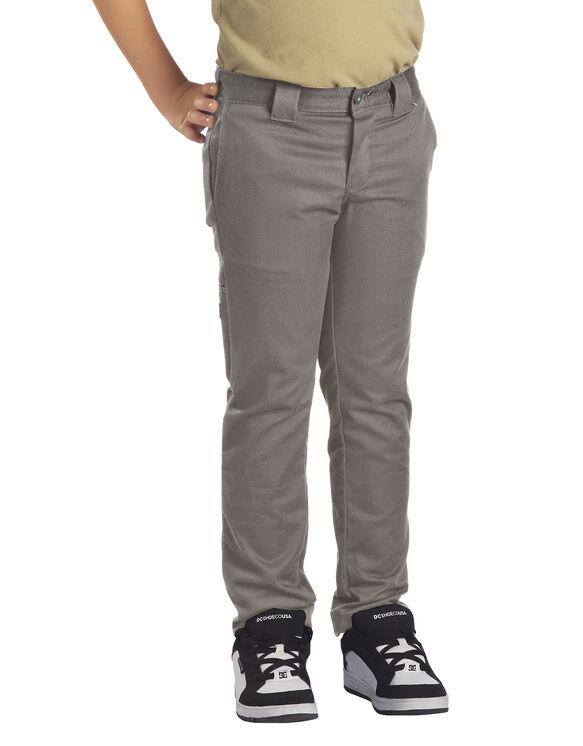 Boys' Flex Skinny Fit Straight Leg Pant, 8-20 - SILVER (SV)