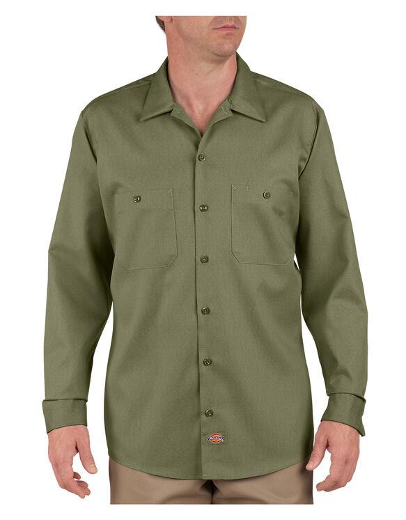 Industrial Patterned Long Sleeve Shirt - LIGHT SAGE (LS)