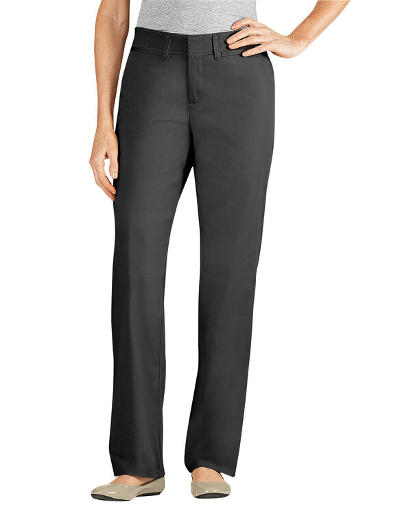 Women's Relaxed Fit Straight Leg Stretch Twill Pant - BLACK (BK)