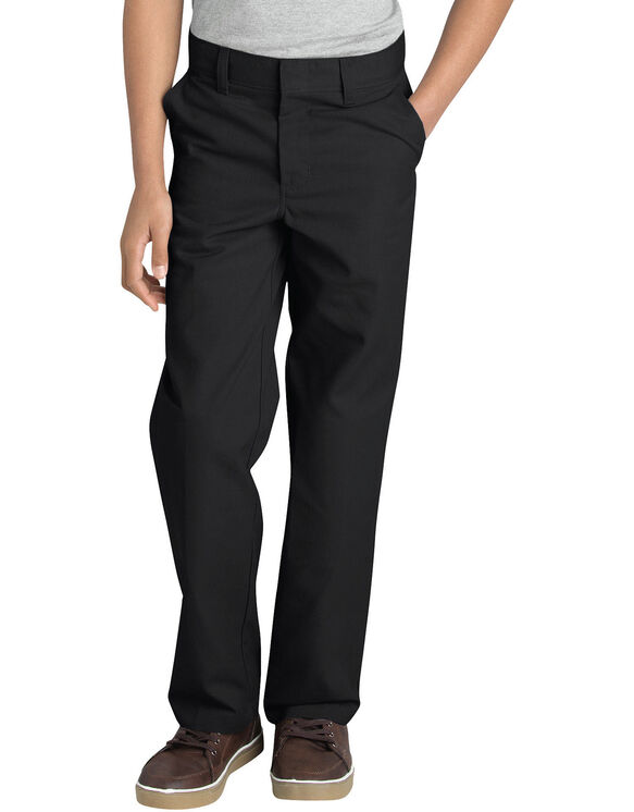 Boys' FlexWaist® Flat Front Pant with Logo, 8-20