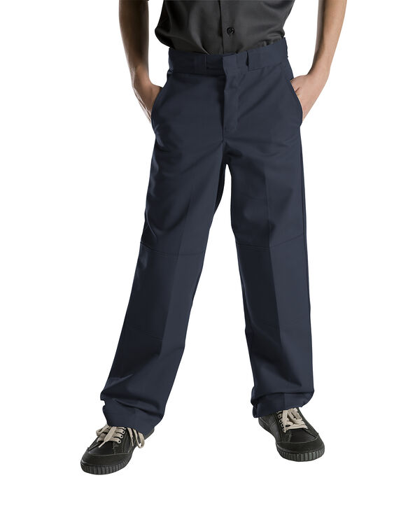 Boys' Relaxed Fit Straight Leg Double Knee Pant (Husky) - DARK NAVY (DN)