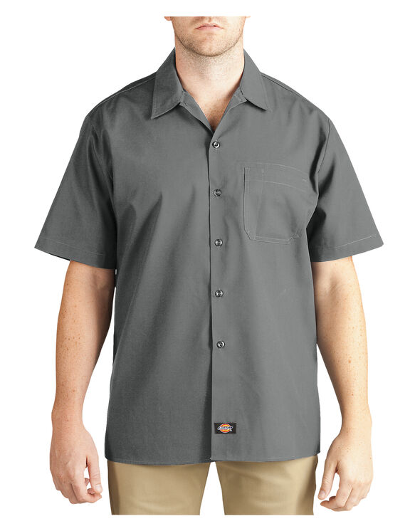 Short Sleeve Poplin Work Shirt - GRAPHITE (GA)