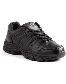 Women's Slip Resisting Athletic Lace Work Shoes - Black (FBK) (FBK)