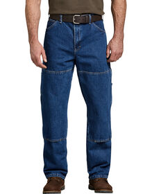 Relaxed Fit Double Knee Carpenter Denim Jean - STONEWASHED INDIGO BLUE (SNB)