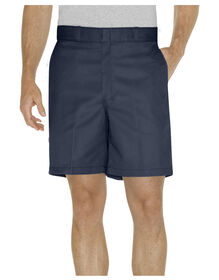"8"" Relaxed Fit Traditional Flat Front Short - DARK NAVY (DN)"