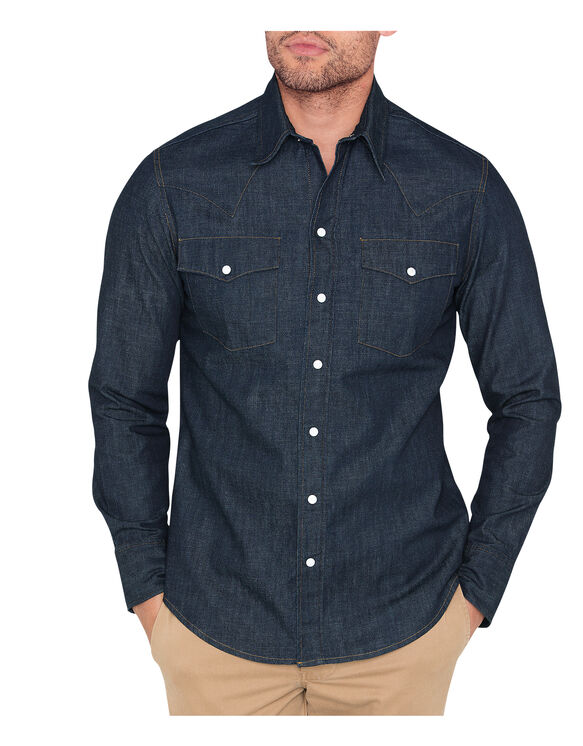 Dickies 1922 8 oz. Western Shirt - RINSED INDIGO (RTD)