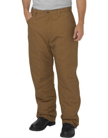 Flame-Resistant Relaxed Fit Straight Leg Insulated Duck Pant - BROWN DUCK (BD)
