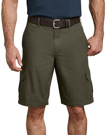 """11"""" Relaxed Fit Lightweight Ripstop Cargo Short - RINSED MOSS GREEN (RMS)"""
