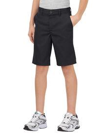 Boys' Flex Classic Fit Ultimate Khaki Short, 8-20 (Husky) - BLACK (BK)