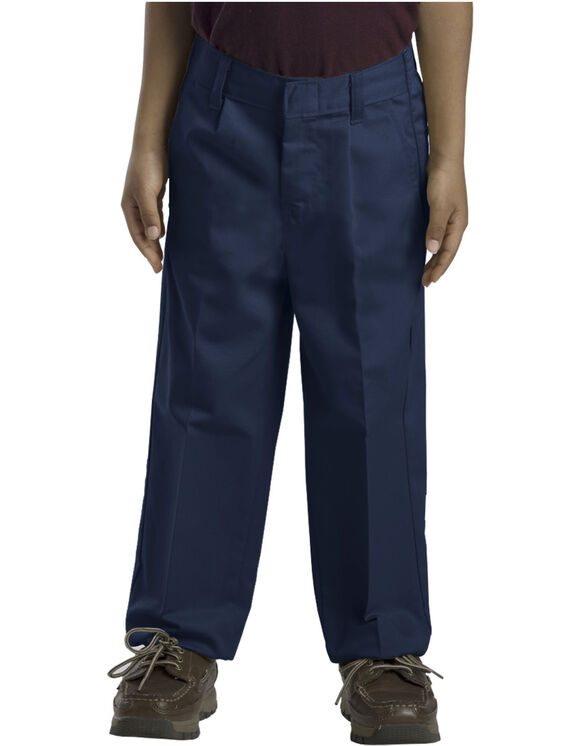 Boys' Classic Fit Straight Leg Pleated Front Pant (Husky)