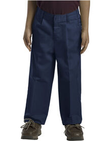 Boys' Classic Fit Straight Leg Pleated Front Pant, 8-20 - DARK NAVY (DN)