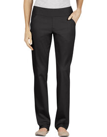 Women's Modern Fit Straight Leg Bi-Stretch Twill Pull-On Pant - RINSED BLACK (RBK)