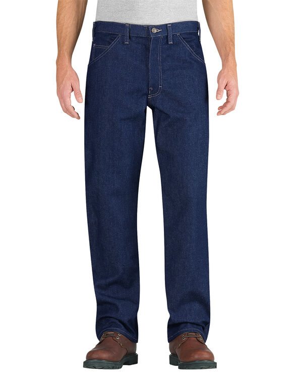 Flame-Resistant Relaxed Fit Straight Leg Carpenter Jean - RINSED INDIGO BLUE (RNB)