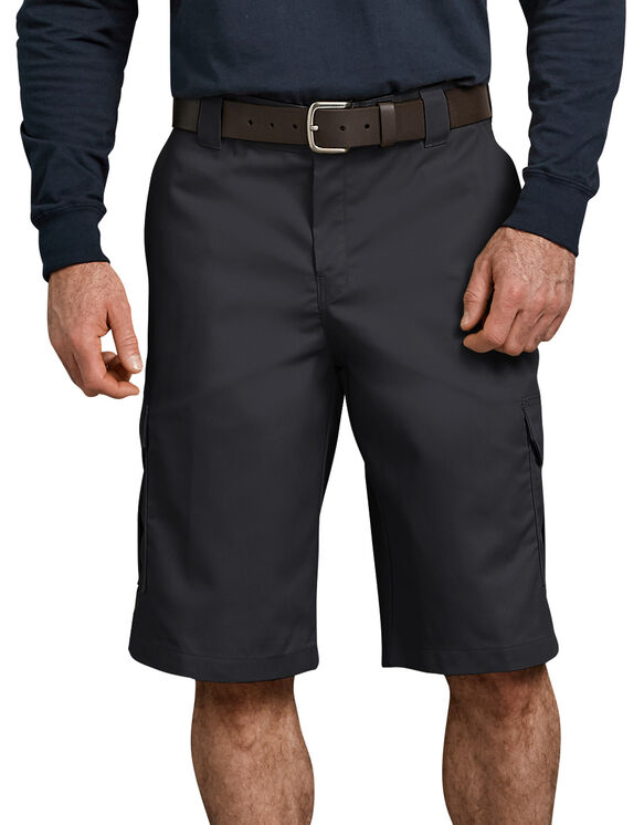 "Flex 13"" Relaxed Fit Cargo Short - BLACK (BK)"