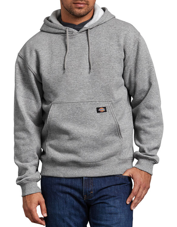 Midweight Fleece Pullover Hoodie - HEATHER GRAY (HG)