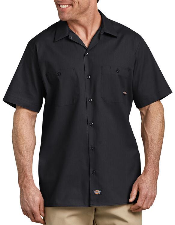Industrial Short Sleeve Work Shirt - BLACK (BK)