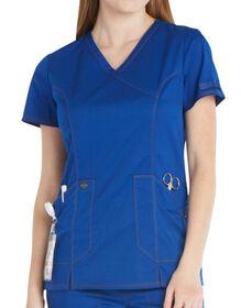 Women's Essence Mock Wrap Scrub Top - GALAXY BLUE-LICENSEE (GBL)