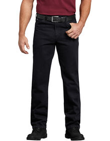 Regular Straight Fit 5-Pocket Denim Jean - RINSED OVERDYED BLACK (RBB)