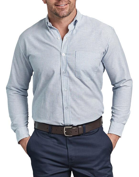 Men 39 s button down oxford shirt long sleeve dickies for Men s oxford button down shirts