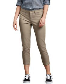 Women's Relaxed Fit Stretch Twill Capri - DESERT SAND (DS)
