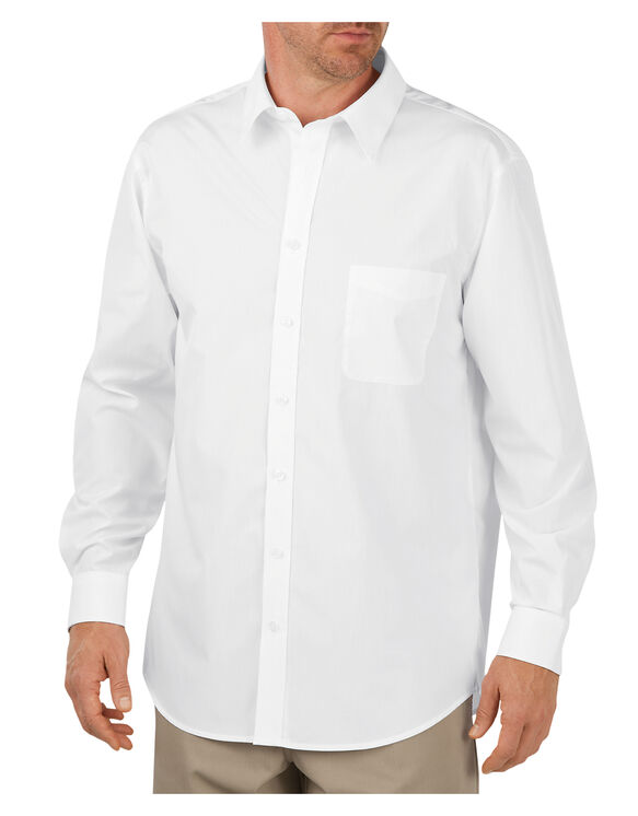Long Sleeve Executive Dress Shirt - WHITE (WH)
